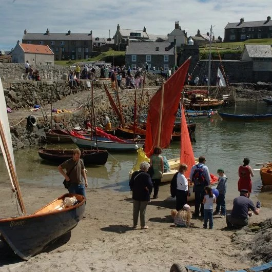 The Scottish Traditional Boat Festival is heald every year in Portsoy.