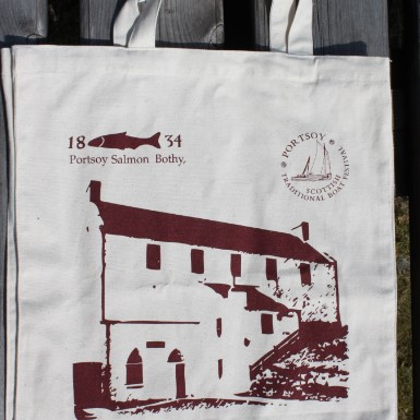 A reusable bag from the Salmon Bothy Shop